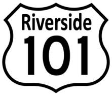 Riverside roadsign