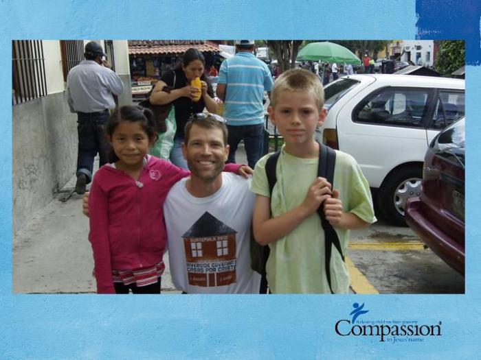 Todd and Son with there Compassion child