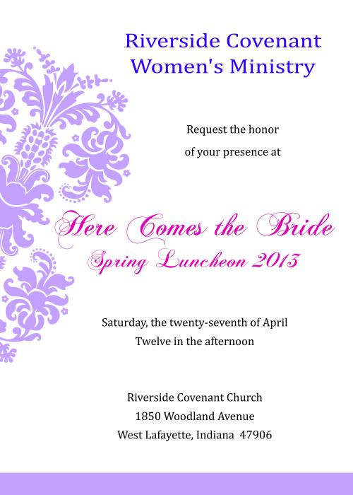 Women's Spring Luncheon 2013 | Riverside Covenant Church ...